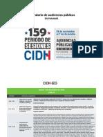 CIDH Calendario 159 Audiencias Español