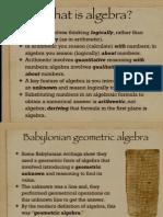 Algebra History