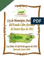Ley 81 de Municipios Autonomos de Puerto Rico Revisada