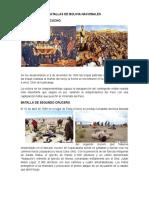 Batallas de Bolivia Nacionales