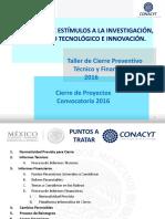 CONACYT Cierre Proyectos PEI 2016