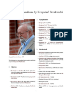 List of Compositions by Krzysztof Penderecki