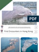 HZMB Case Stud Impact of Marine Construction Works on Marine Mammals