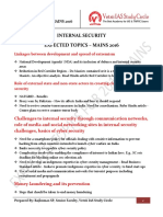 INTERNAL SECURITY EXPECTED TOPICS – MAINS 2016