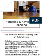 The effect of Marketing plan on Advertising