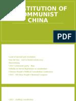 Constitution of Communist China