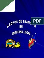 Hechos de Transito Terrestre Medicina Forense