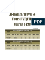 Counter Umrah Package