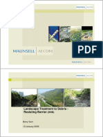 Landscape Treatment to Debris - Resisting Barrier (DRB)