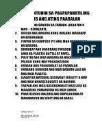 Mga Alituntunin Sa Pagpapanatiling Malinis Ang Ating Paaralan