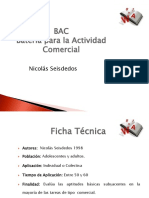 (BAC) Batería Para La Actividad Comercial