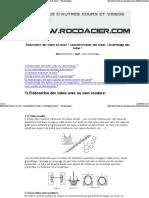 Elaboration Des Tubes en Acier ! Caractéristiques Des Tubes ! Assemblage Des Tubes ! - Version Imprimable - Cours Technologie - Rocdacier