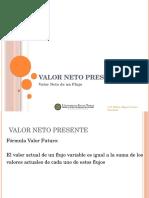 03 VALOR PRESENTE NETO - Valor Actual de Un Flujo