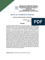 Articulo-impacto de La Biometría en Venezuela