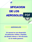 Clasificacion de Los Aerosoles