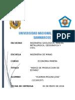 Informe Indice de Produccion de Estaño