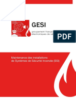 Maintenance des installation de systèmes de sécurité incendie (SSI)