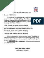 2ª COPA SERTÃODE FUTSAL SUB20 - PUNIÇÃO