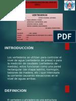 """vertederos - LABORATORIO DE MECÁNICA DE FLUIDOS """"UNIVERSIDAD PERUANA LOS ANDES"""""""