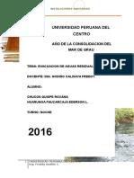 Trabajo de Evacuacion de Aguas Sanitarias