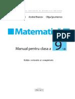 IX_Matematica (in Limba Romana)