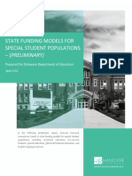 Hanover - State Funding Models for Special Student Populations