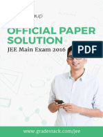 2016 JEE Main Solution