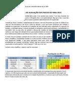 Metodologia de Avaliação Dos Riscos Iso 9001