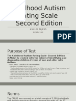 childhood autism rating scale- second edition pp