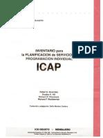 ICAP - Inventario, Protocolo y Trabla de Puntajes
