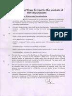 UTD 1st Year BTECH Marking Scheme
