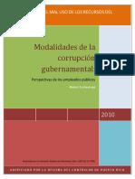 Las Modalidades de La Corrupcion Gubernamental , Perspectivas de Los Empleados Publicos - Rev. 22 de Noviembre (2)