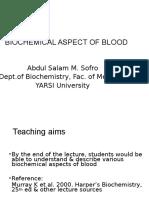 Biochemical Aspect of Blood-A
