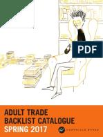 UK Chronicle Books Spring 2017 Adult Backlist Catalogue