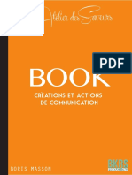Book l'Atelier des Saveurs Boris Masso,