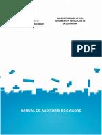 Manual de Auditoria de Calidad 2016