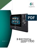 Logitech Harmony 1100 User Manual