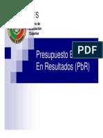 programa basado en resultados Pbr