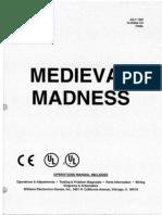 Williams 1997 Medieval Madness English Manual