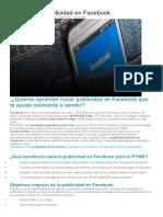 Cómo Hacer Publicidad en Facebook