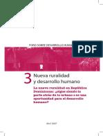 Nueva Ruralidad y Desarrollo Humano