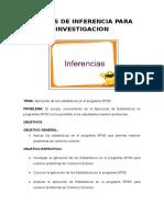 Casos Tipicos Aplicativos de Inferencia Con Software