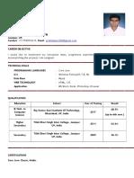 Resume for Prabhakar