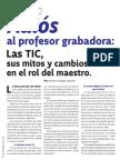 Adios Al Profesor Grabadora Las TIC Sus