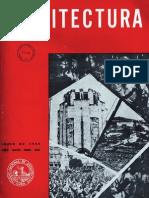 páginas da revista Arquitectura — Cuba, 1959