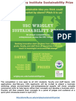 The USC Wrigley Institute Sustainability Prize(1)
