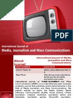 International Journal of Media, Journalism and Mass Communications - ARC Journals