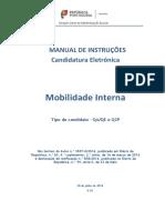 Manual de Instruções – Candidatura a Mobilidade Interna – 2016_2017