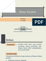 DT Dasar-dasar Anestesi