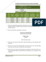 Instructions on How to Create a Units of production Depreciation Schedule